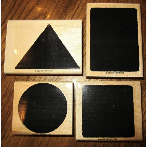 Stampin Up The Shape Of Things Wooden Stamp Set